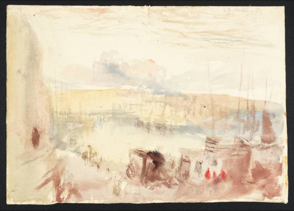 Dieppe Harbour circa 1826 by Joseph Mallord William Turner 1775-1851