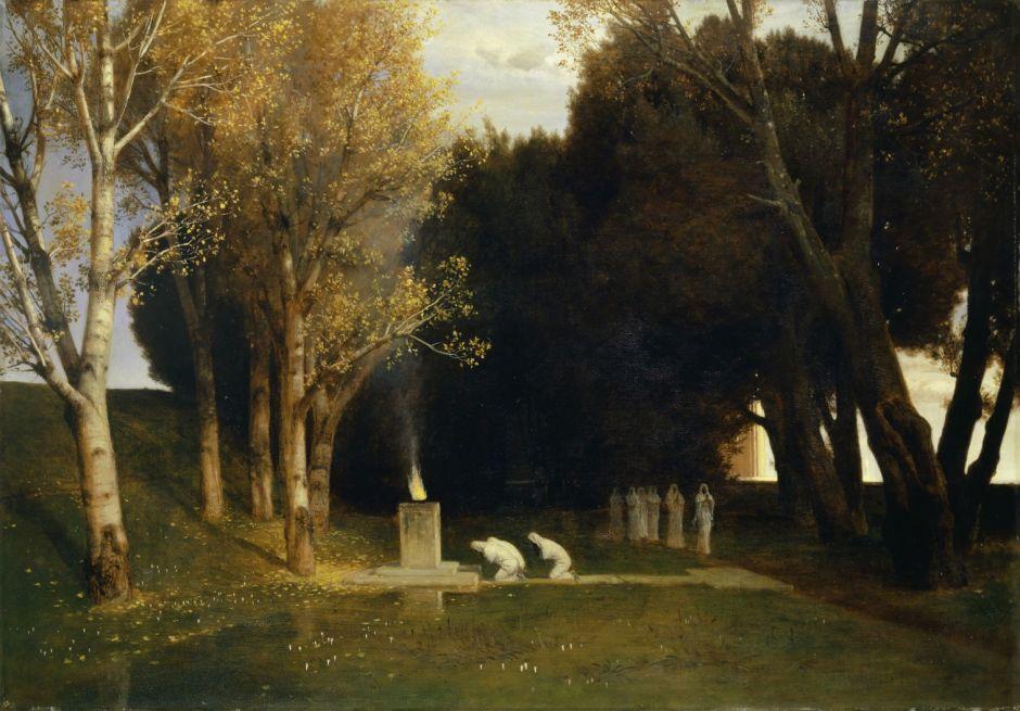 Arnold Böcklin; Der heilige Hain; 1882