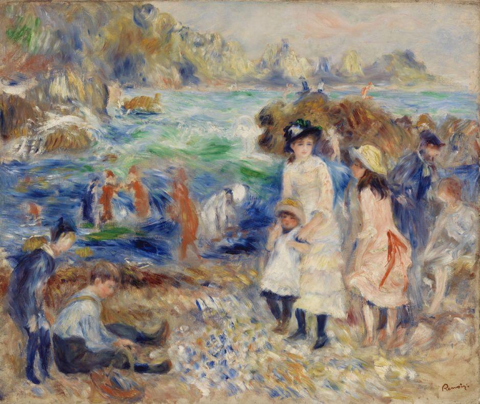 renoirchildrenseashoreguernsey