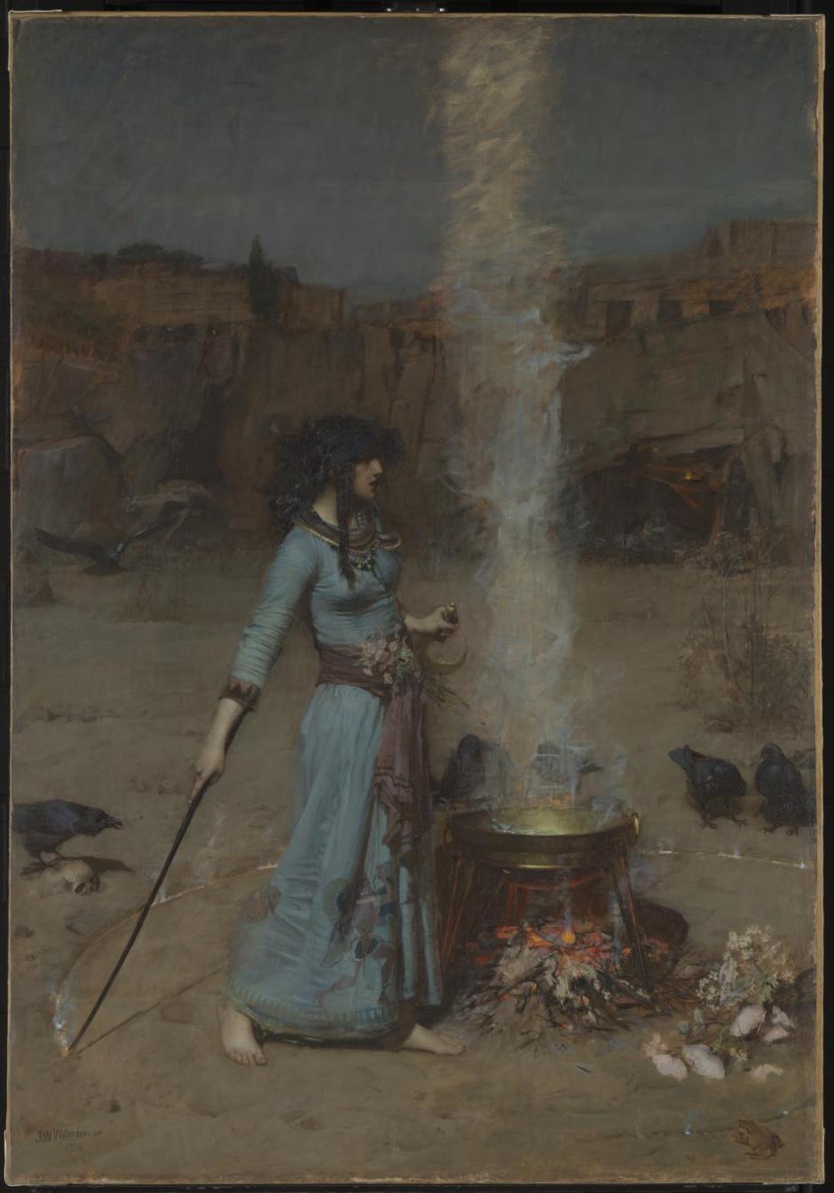 The Magic Circle 1886 by John William Waterhouse 1849-1917