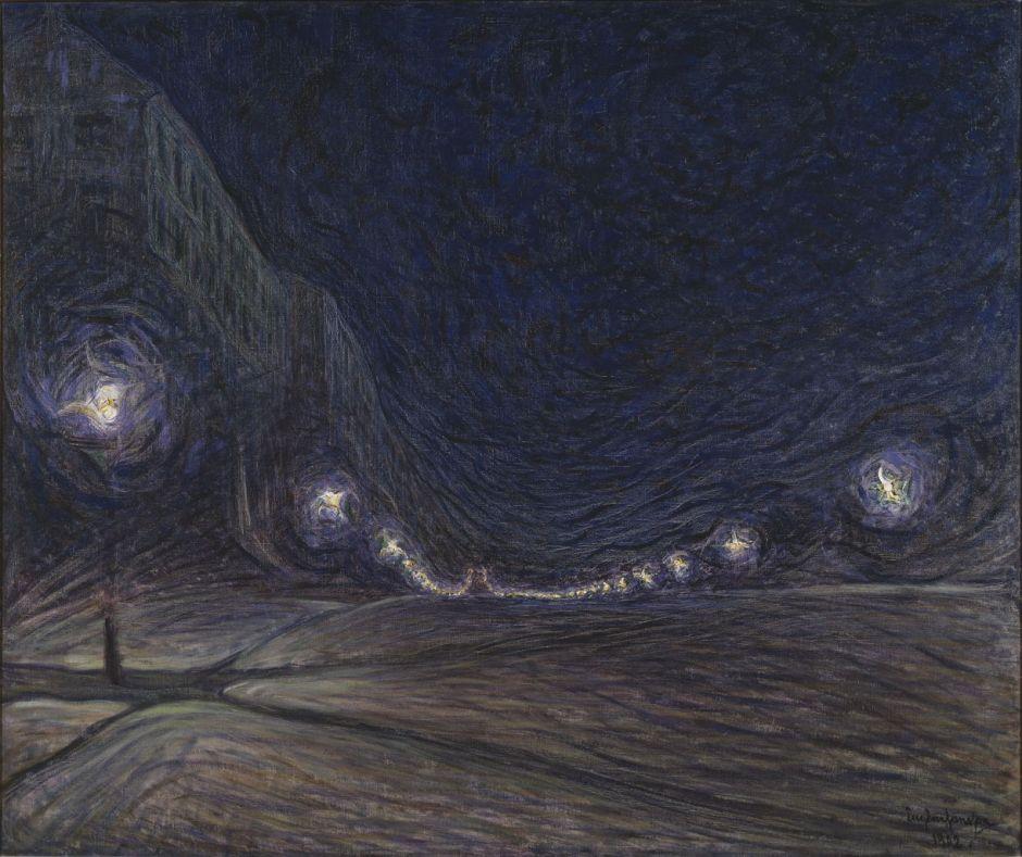 Eugène Jansson: Hornsgatan nattetid.NM 1869