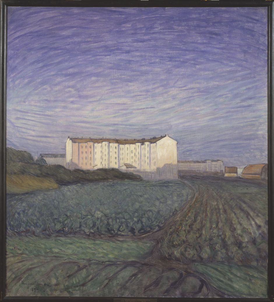 Eugène Jansson: Stadens utkant.NM 2134