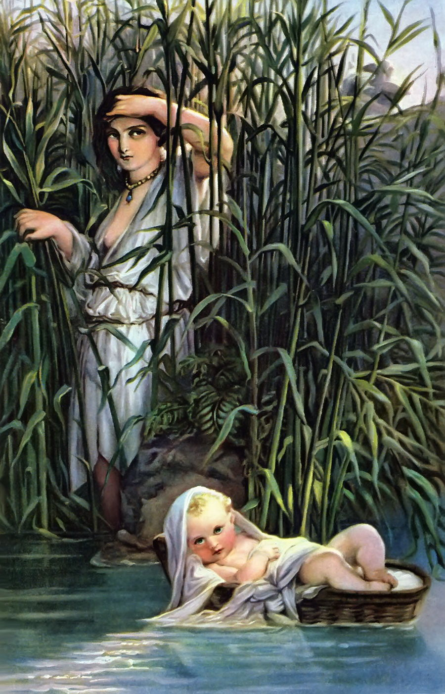 Discovery of Baby Moses by Paul Delaroche