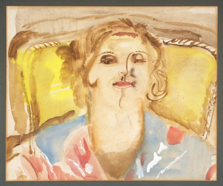 Portrait of Kitty West 1939 by Frances Hodgkins 1869-1947