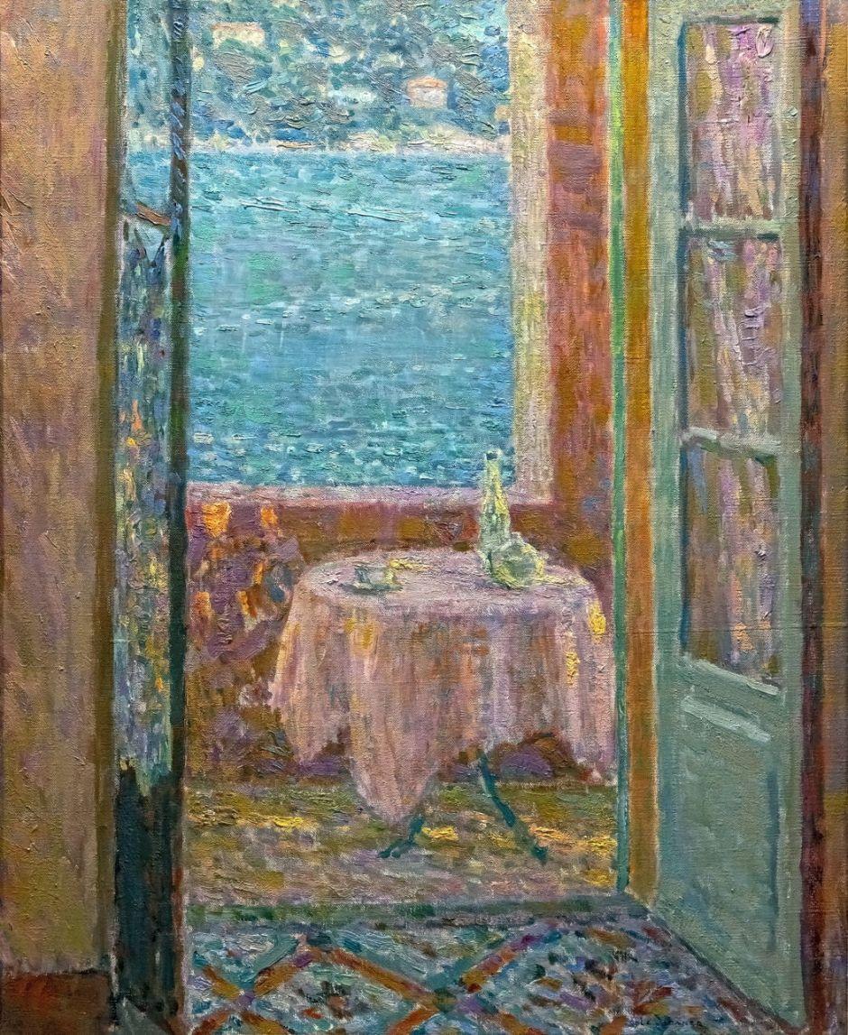 Bemberg Fondation - La Table de la mer, Villefranche-sur-Mer 1920 - Henri Le sidaner  61.4x50.2