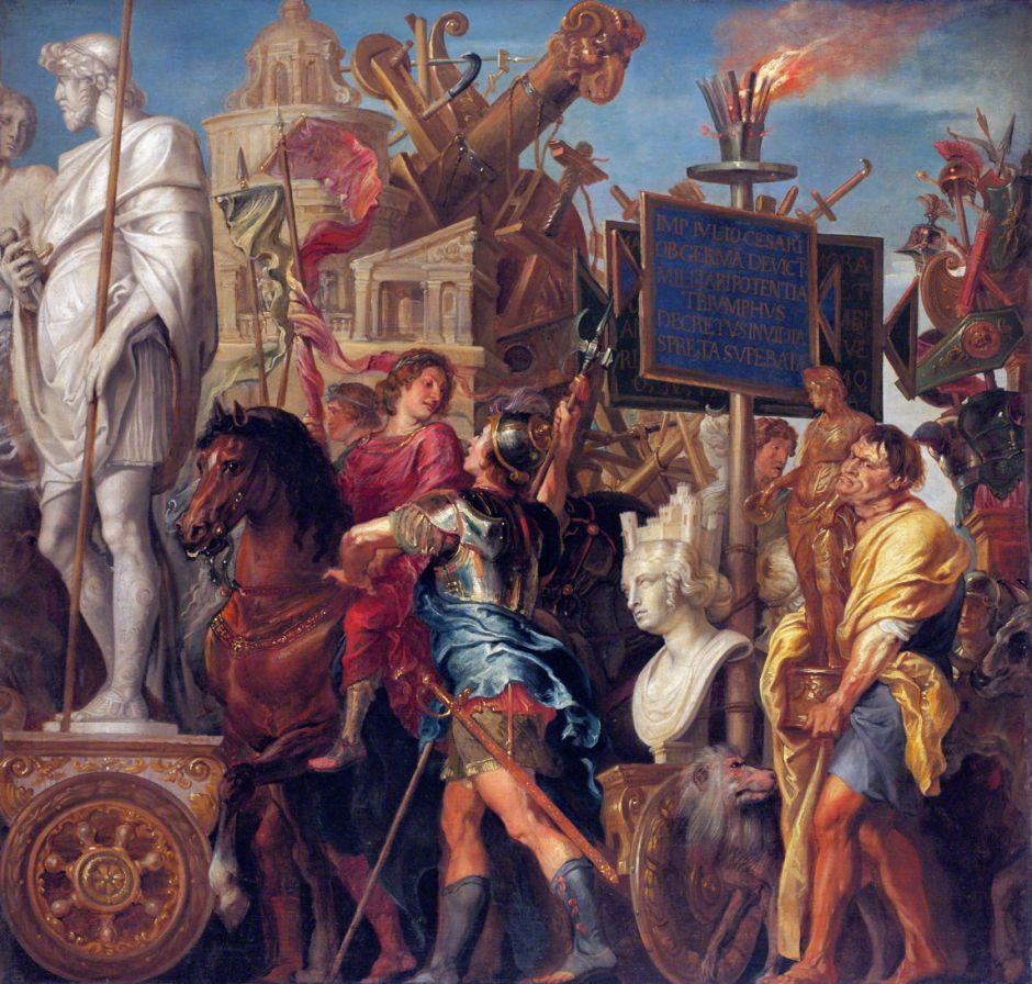 Caesar's Triumph, by Peter Paul Rubens and Erasmus Quellinus II