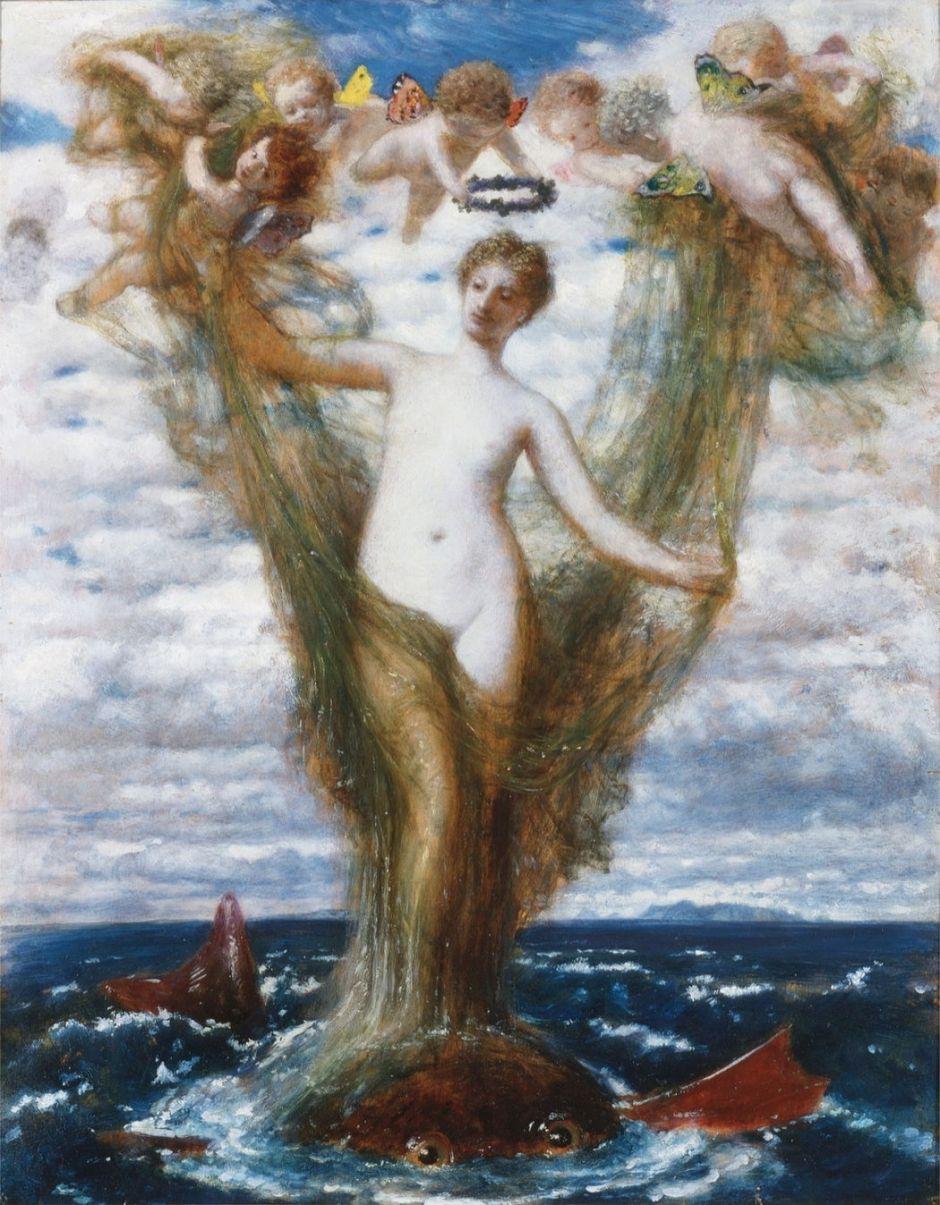 Venus Anadyomene, 1872 (oil on panel)