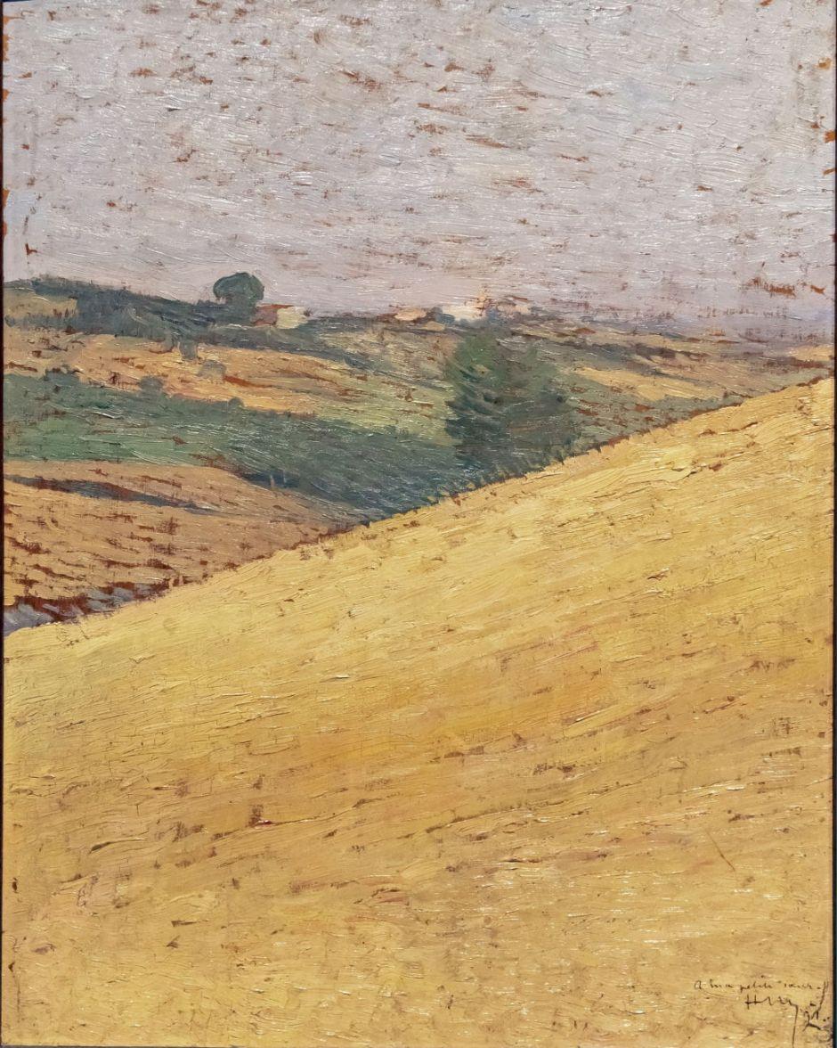 Beaux-Arts de Carcassonne - Paysage du Lauragais 1891 - Henri Martin