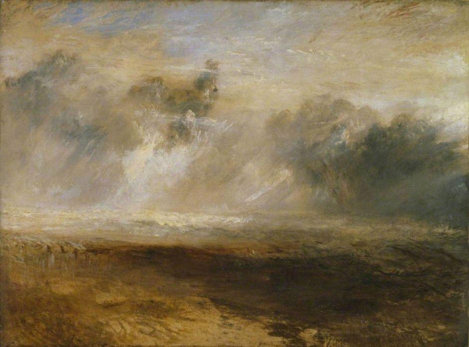 Turner, Joseph Mallord William, 1775-1851; Breakers on a Flat Beach