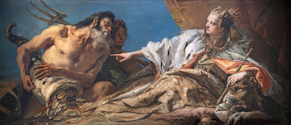 Giambattista Tiepolo - Venezia riceve l'omaggio di Nettuno - 1745-50
