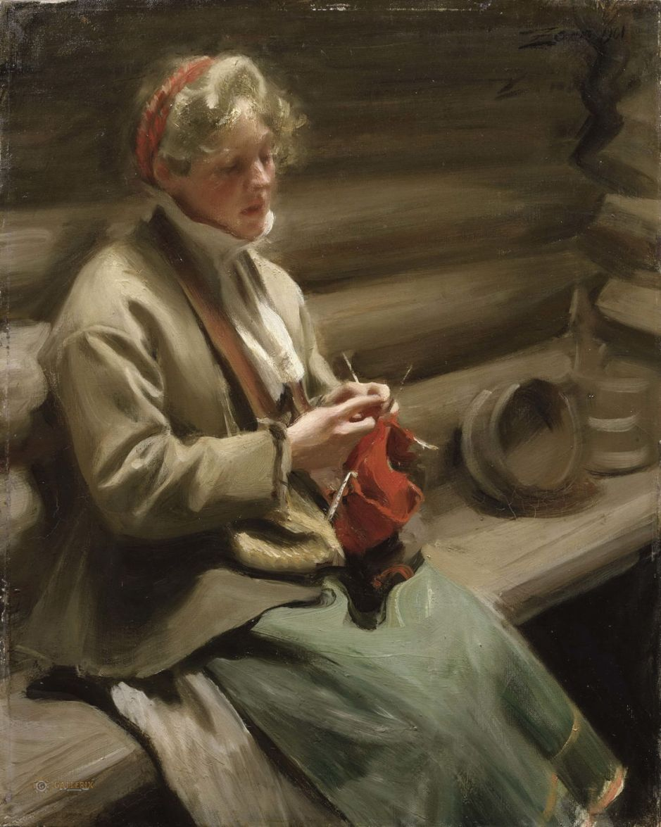 zornwomanknitting