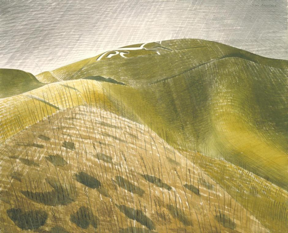 The Vale of the White Horse c.1939 by Eric Ravilious 1903-1942