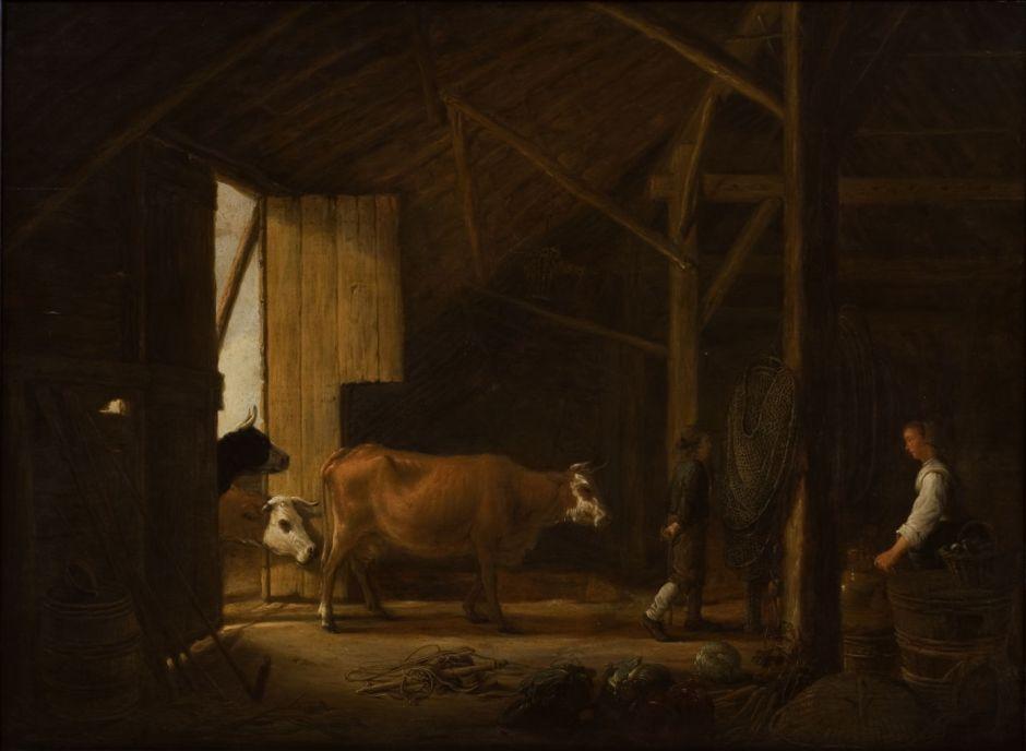 Aelbert Cuyp: Ladugårdsinteriör.NM 4441