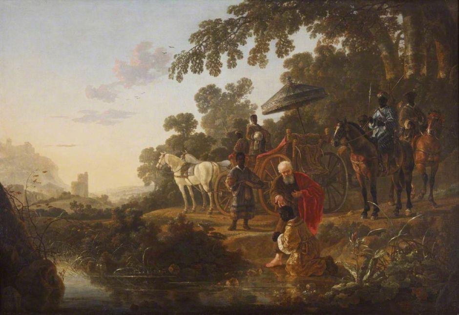 Cuyp, Aelbert, 1620-1691; Saint Philip Baptising the Ethiopian Eunuch