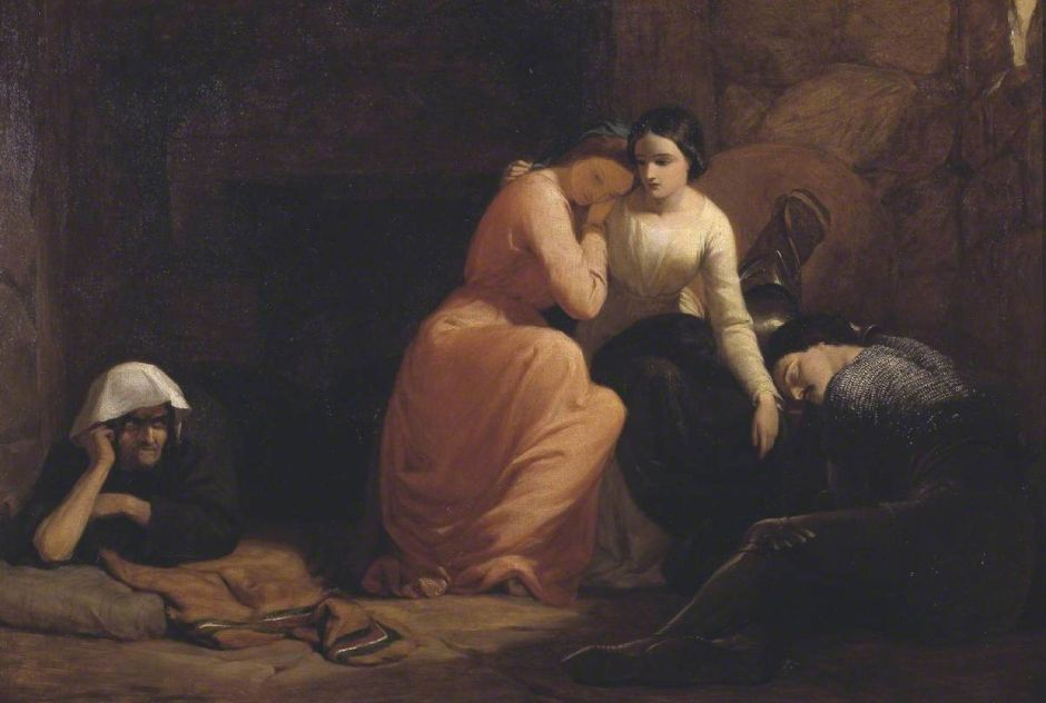 Pickersgill, Frederick Richard, 1820-1900; Amoret, Aemylia and Prince Arthur, in the Cottage of Sclaunder