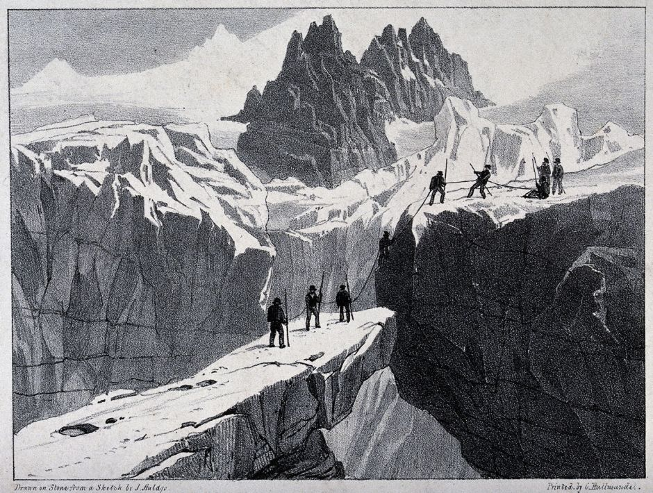 V0025171 The ascent of Mont Blanc by John Auldjo's party in 1827: mou