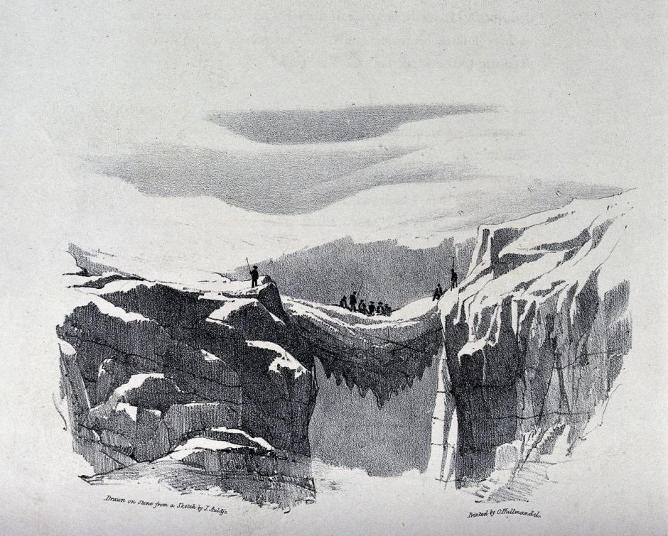 V0025173 The ascent of Mont Blanc by John Auldjo's party in 1827: the
