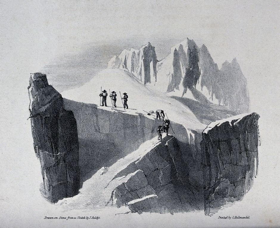 V0025174 The ascent of Mont Blanc by John Auldjo's party in 1827: the