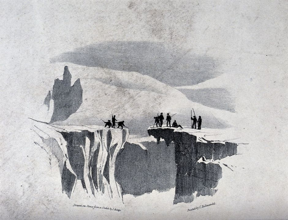 V0025172 The ascent of Mont Blanc by John Auldjo's party in 1827: tra