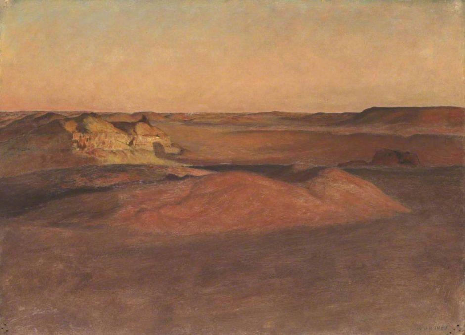 Richmond, William Blake, 1842-1921; The Libyan Desert, Sunset