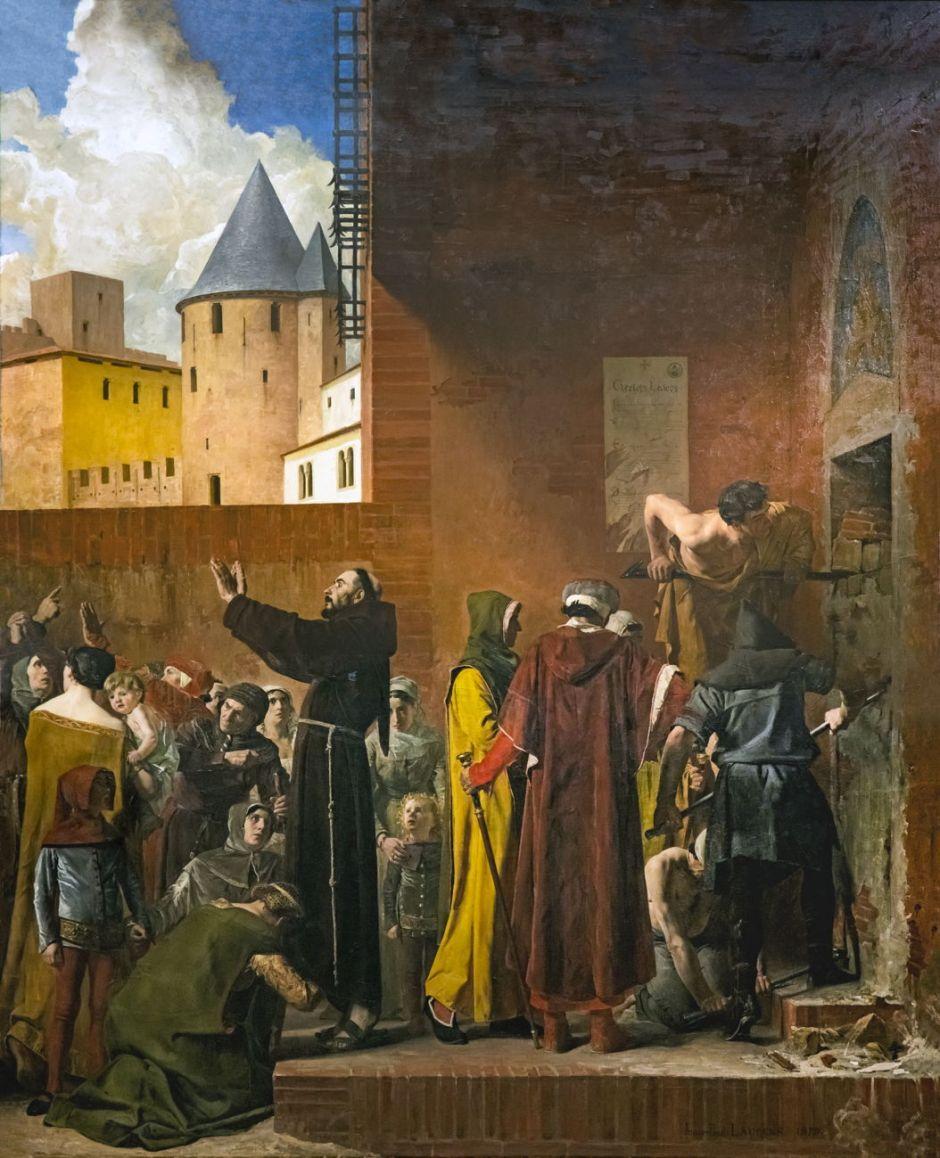 Beux-Arts de Carcassonne - La Délivrance des emmurés de Carcassonne 1879 - Jean Paul Laurens