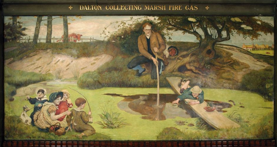 FMB Mural Dalton Collecting Marsh Fire Gas