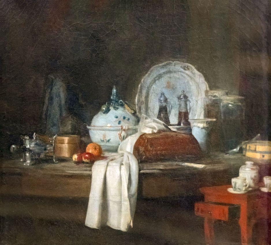 Beaux-Arts de Carcassonne - La table d'office ou Les apprêts d'un déjeuner 1756 - Jean-Siméon Chardin - Joconde04400000593