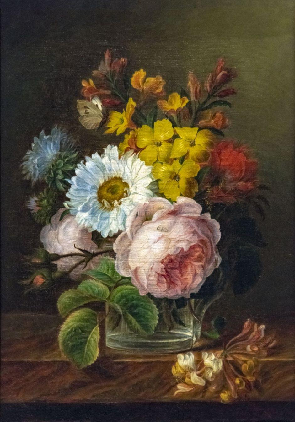 Beaux-Arts de Carcassonne - Bouquet de fleurs dans un verre d'eau - Anne Vallayer-Coster - Joconde04400000408