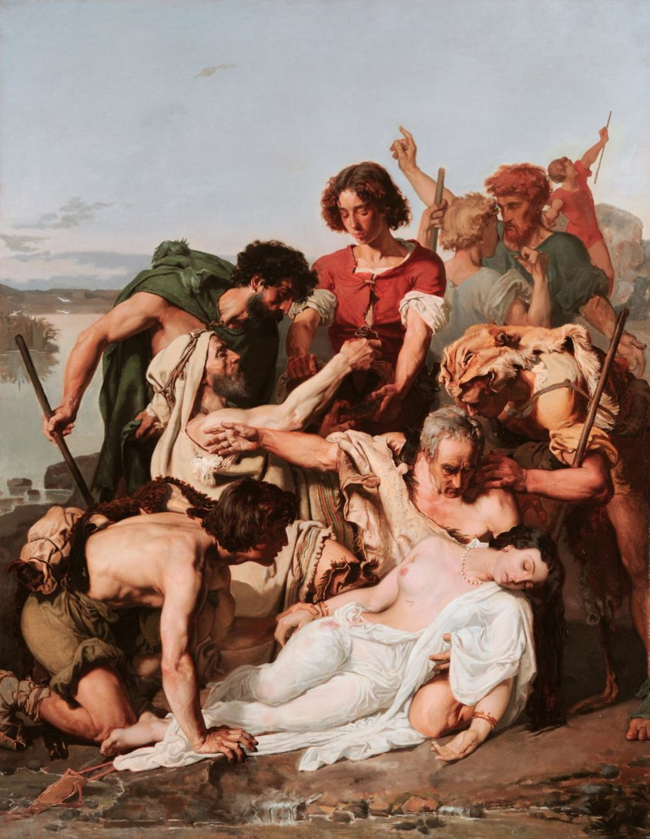 Zenobia discovered by shepherds on the banks of the Araxes, by Paul-Jacques-Aimé Baudry