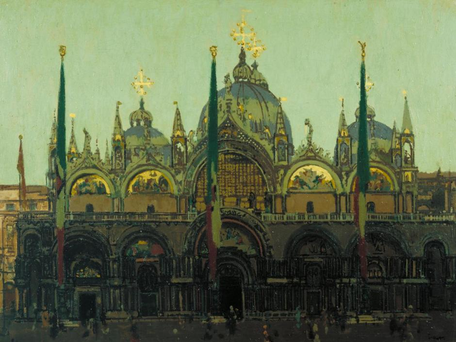 St Mark's, Venice (Pax Tibi Marce Evangelista Meus) 1896 by Walter Richard Sickert 1860-1942