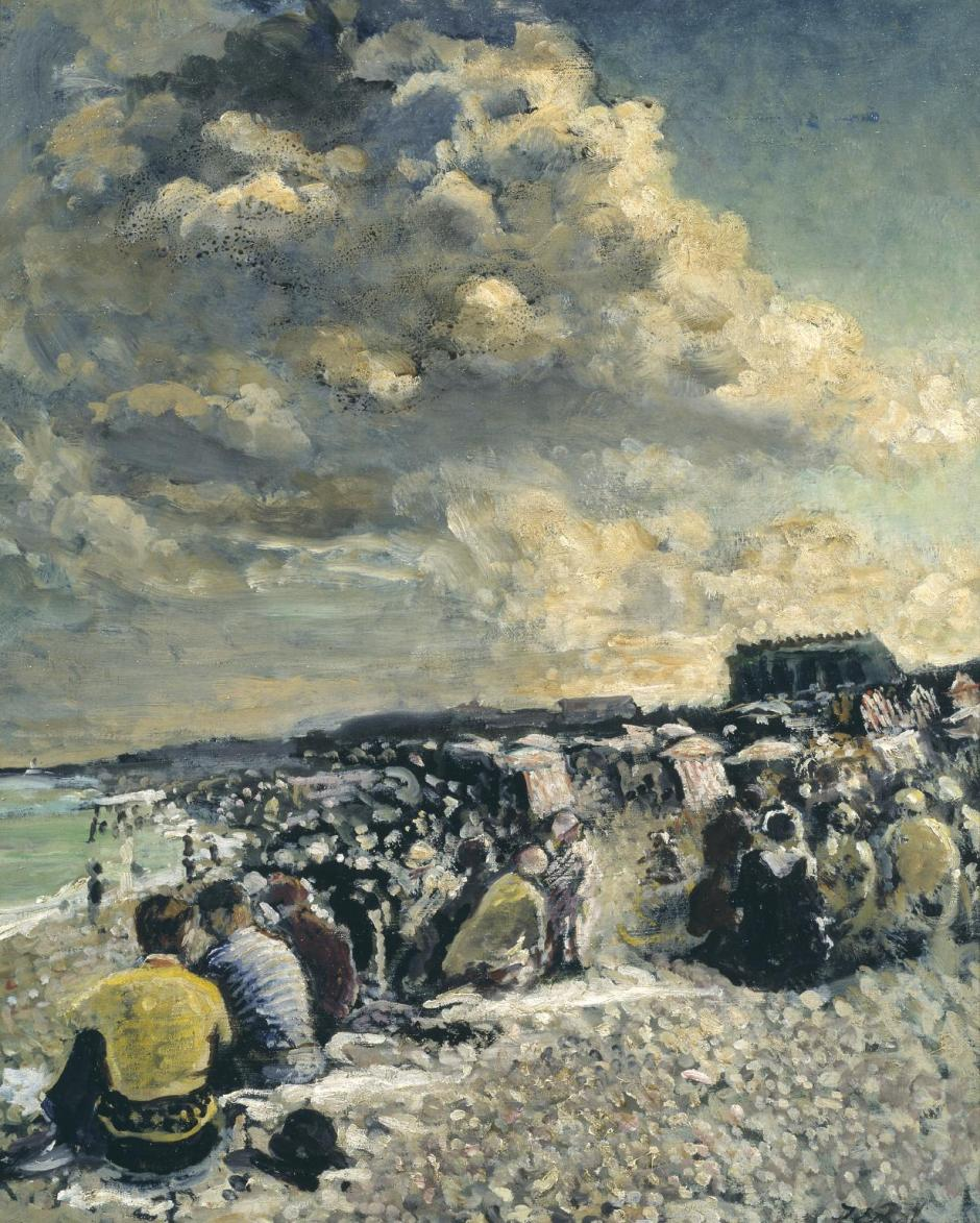 August Morning, Dieppe Beach c.1934 by Jacques-Emile Blanche 1861-1942