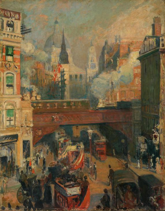 Ludgate Circus: Entrance to the City (November, Midday) c.1910 by Jacques-?mile Blanche 1861-1942