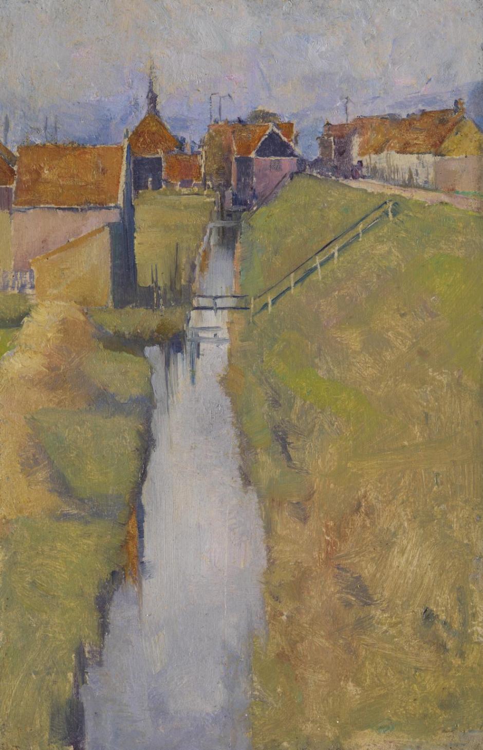Volendam, Holland, from the Zuidende ?1895 by Elizabeth Forbes 1859-1912