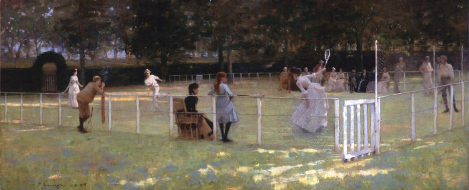 The tennis party, by John Lavery