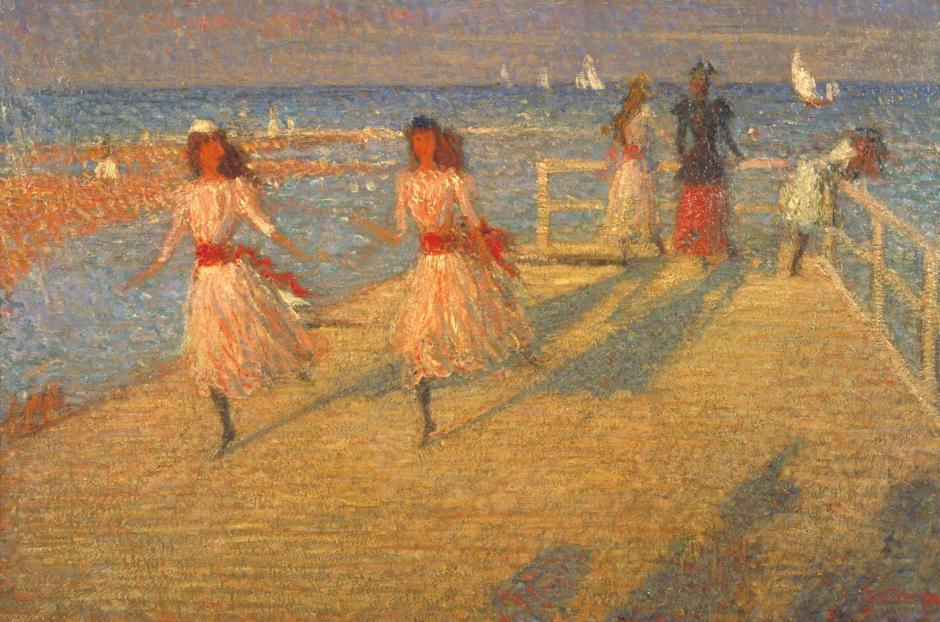 Girls Running, Walberswick Pier 1888-94 by Philip Wilson Steer 1860-1942