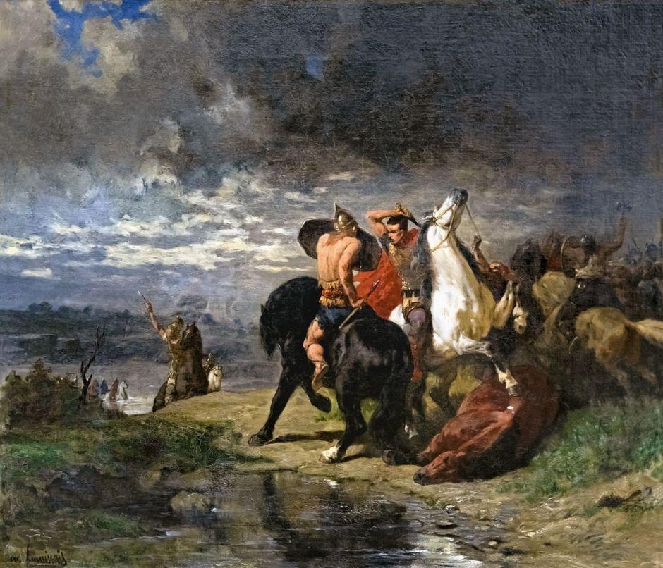 Beaux-Arts de Carcassonne - Combat de Romains et de Gaulois - Evariste-Vital Luminais
