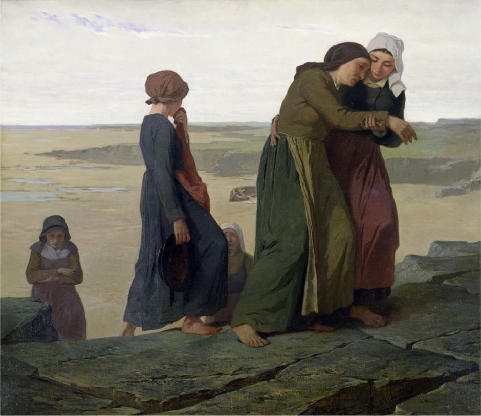 The Widow or The Fisherman's Family (oil on canvas)