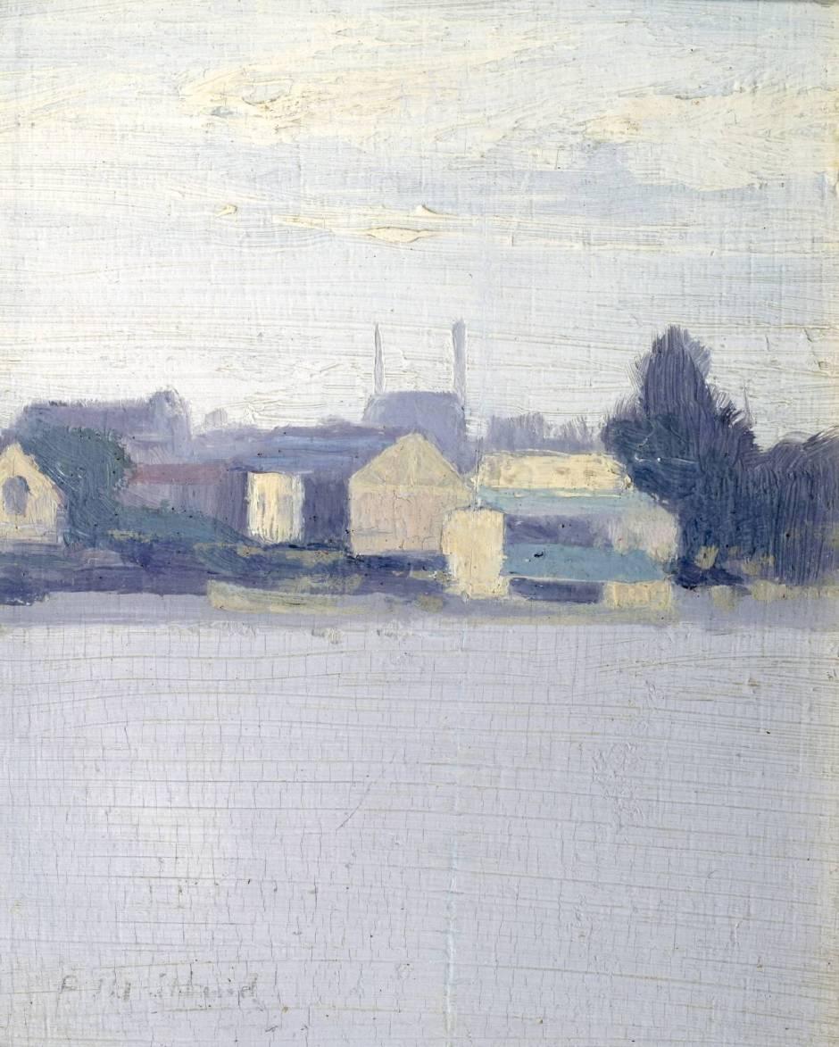 Battersea Boat Houses circa 1888 by Paul Maitland 1863-1909
