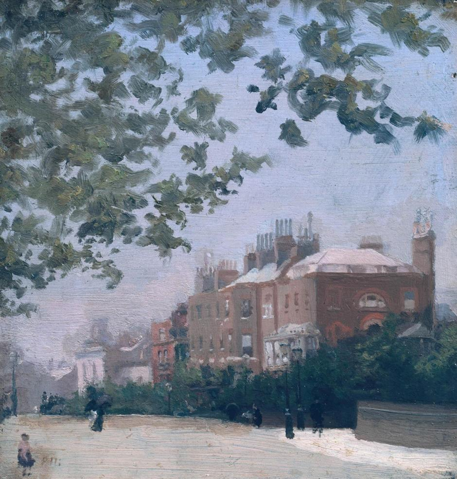Cheyne Walk: The Corner of Beaufort Street by Paul Maitland 1863-1909