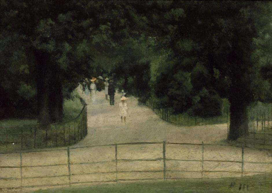 The Flower Walk, Kensington Gardens c.1897 by Paul Maitland 1863-1909