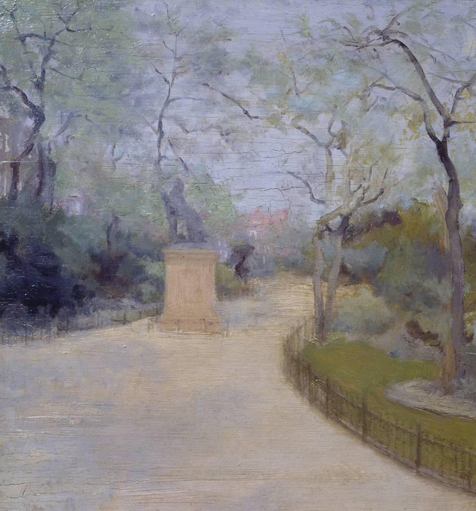The Gardens, Chelsea Embankment circa 1889 by Paul Maitland 1863-1909