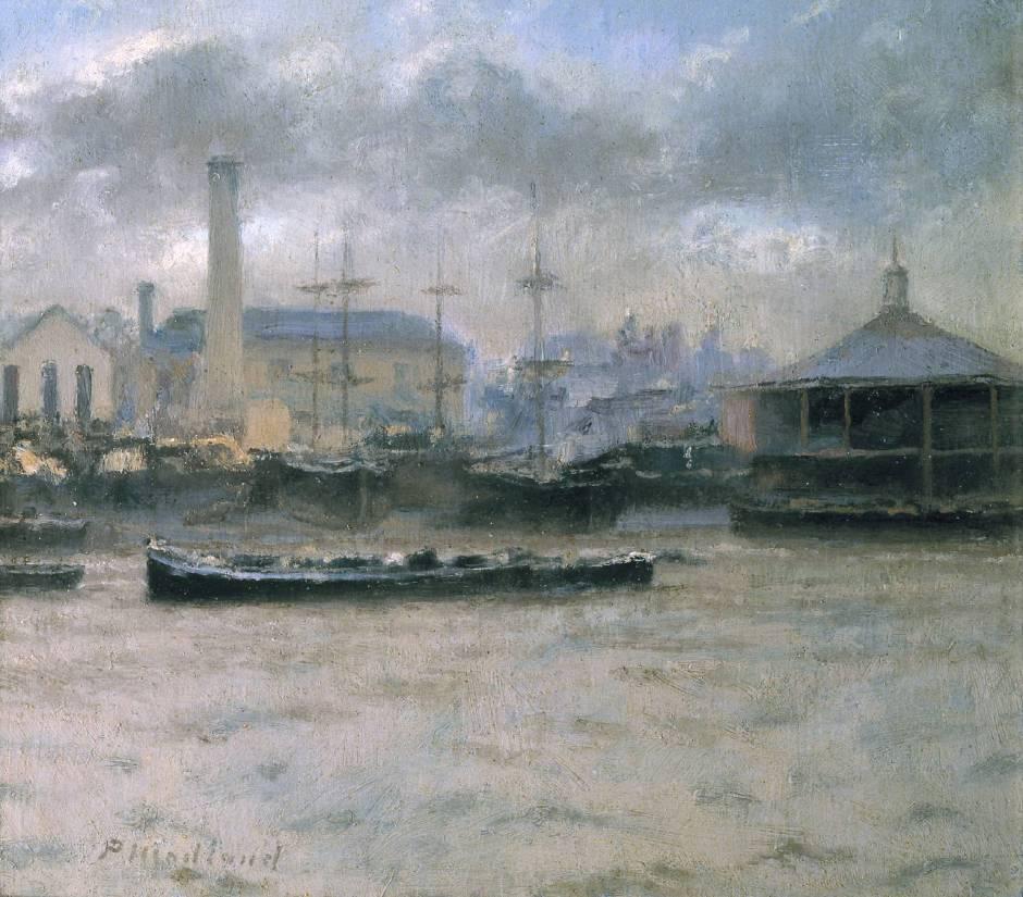 The Sun Pier, Chatham circa 1897 by Paul Maitland 1863-1909