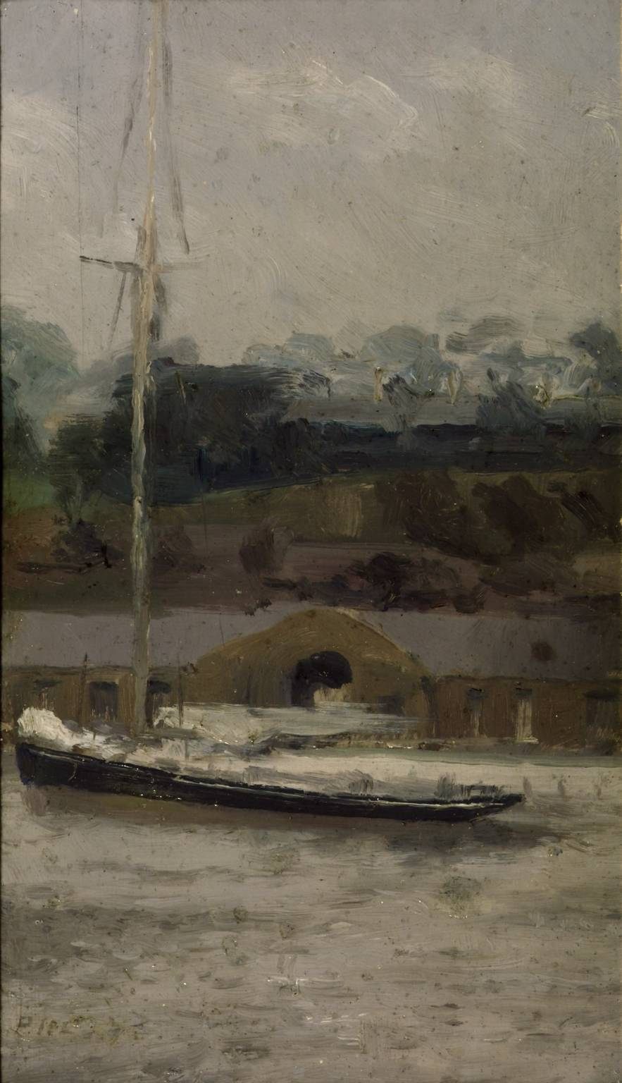 A Yacht off Sheerness circa 1896 by Paul Maitland 1863-1909