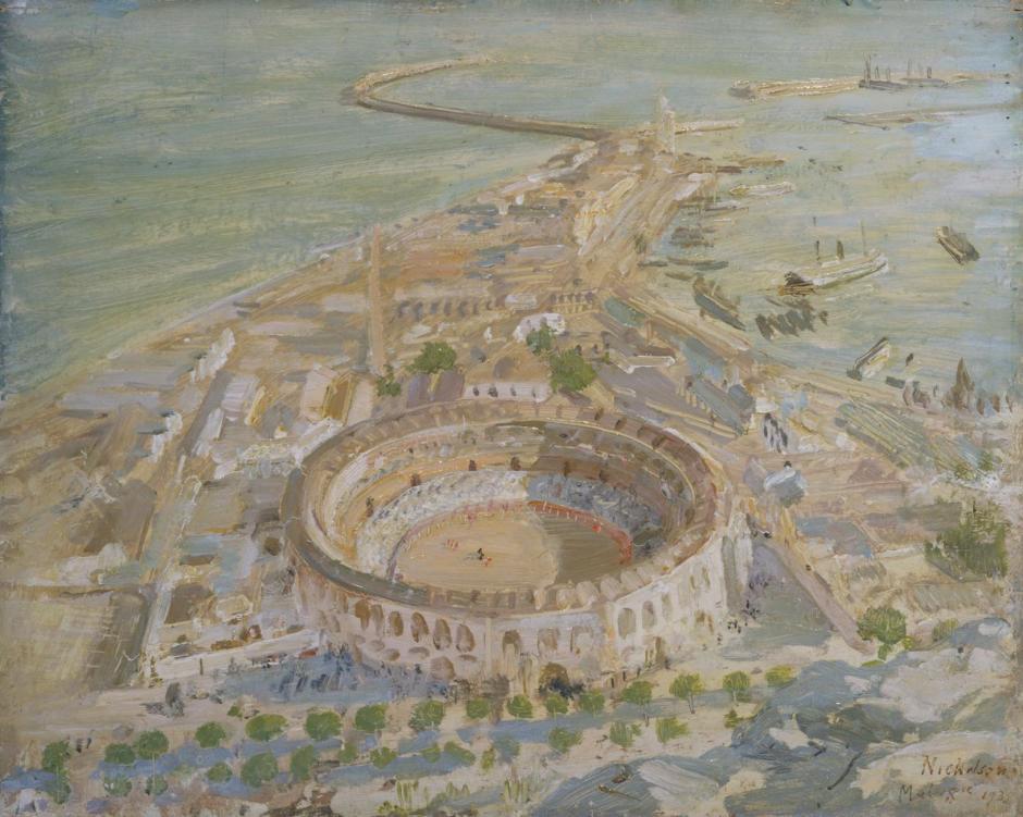 Study for 'Plaza de Toros, Malaga' 1935 by Sir William Nicholson 1872-1949