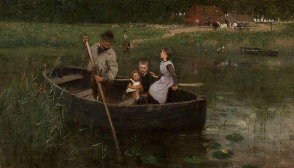 Stott, William Edward, 1859-1918; The Ferry